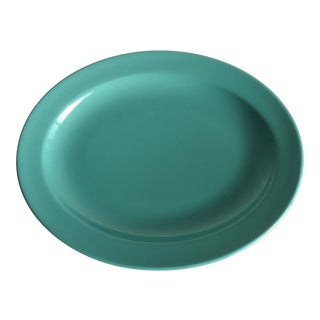 Vintage Turquoise Pottery Platter