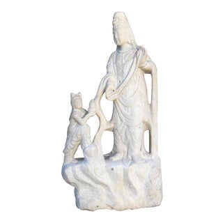 Carved Quartz Quan Yin Statue
