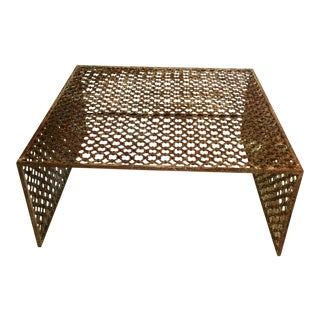 Rusted Iron Chain Link Coffee Table