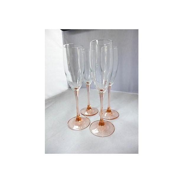 Pink Stem Champagne Glasses - Set of 4 - Image 4 of 7