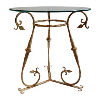 Shabby Chic Rusted Iron Side Table