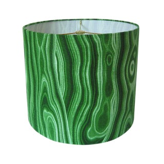 Malachite Green Drum Lamp Shade
