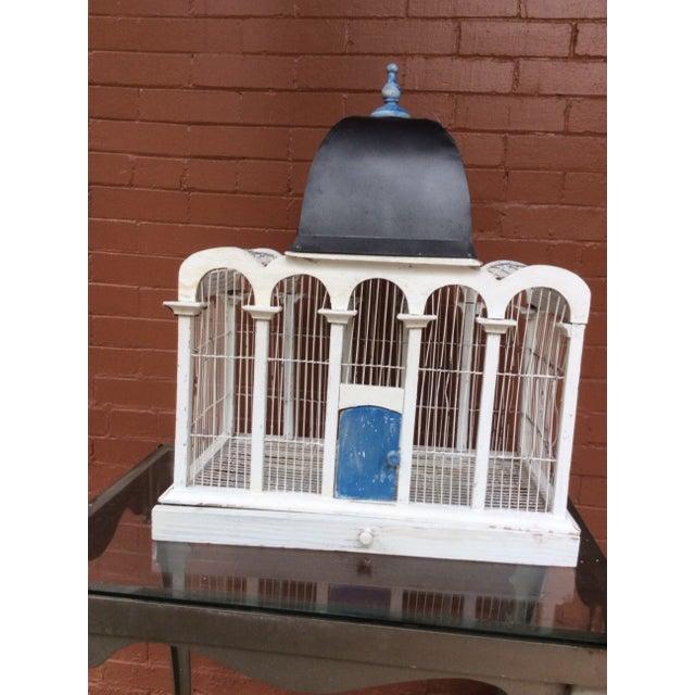 1930's Handmade Metal Birdcage - Image 2 of 3