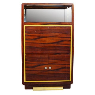 High Style Art Deco Macassar Ebony Vitrine Cabinet & Secretary Desk
