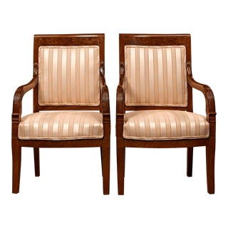 Directoire Upholstered Armchairs