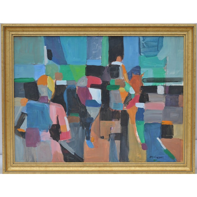 Image of Abstract Horse Show Oil Painting
