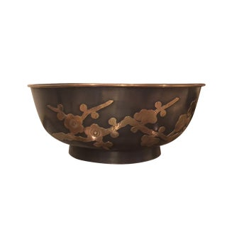 Brass & Pewter James Mont Style Asian Bowl