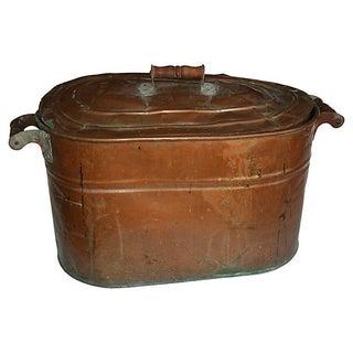 19th Century American Primitive Copper Boiler