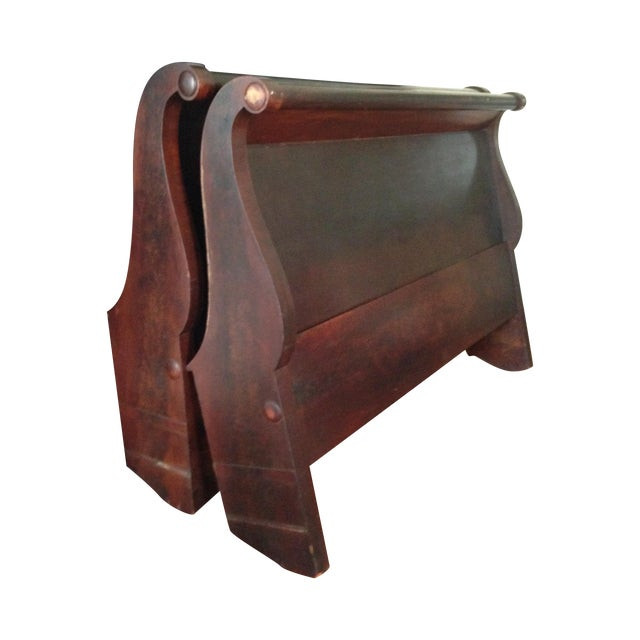 Image of Antique Child's Sleigh Bed