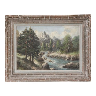 French 19th-Century Continental Alpine Landscape
