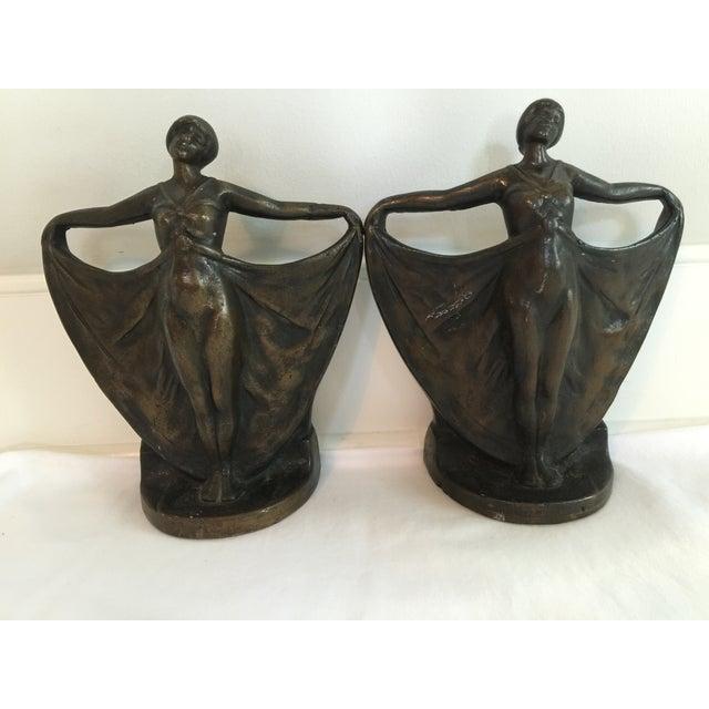 Antique Art Deco Cast Iron Bookends - A Pair - Image 2 of 6