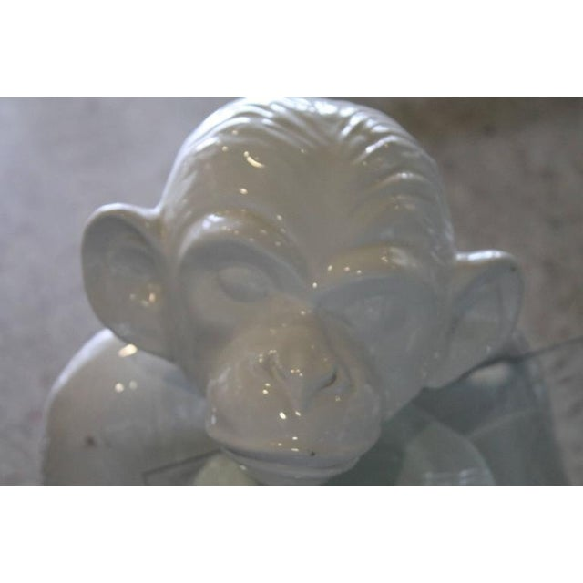 Vintage Italian Chinoiserie Ceramic Monkey Coffee Table - Image 6 of 11