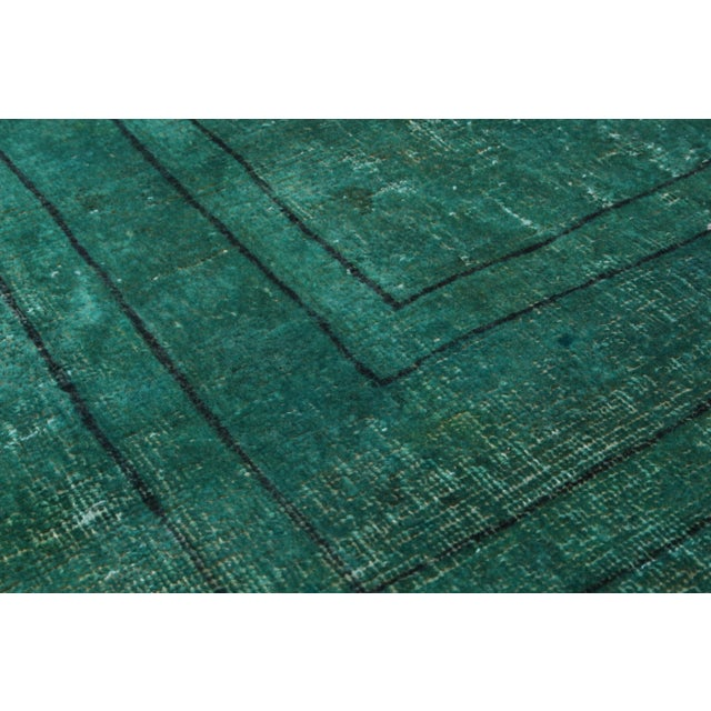 """Green Vintage Persian Overdyed Rug - 9'4"""" X 12'9"""" - Image 2 of 2"""