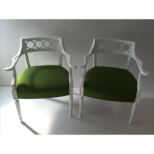 Image of Palm Beach Hollywood Regency Chairs - Pair