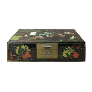 Chinese Black & Color Scenery Graphic Box