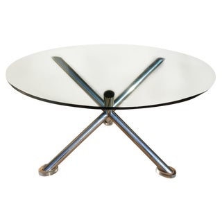 Mid-Century Chrome Base Dining Table