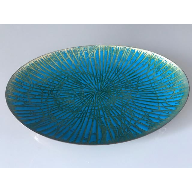 Mid Century Modern Enamel Over Copper Plate/Dish - Image 3 of 5