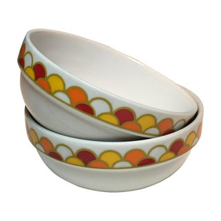 """Georges Briard """"Carousel"""" Cereal Bowls - A Pair"""