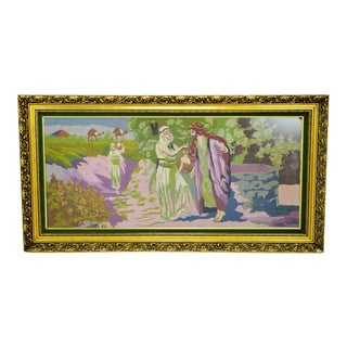 Neoclassical Scene Matted Needlepoint