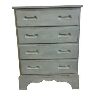 Antique Shabby Chic Blue Dresser
