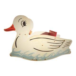 Vintage Wooden Duck Rocker