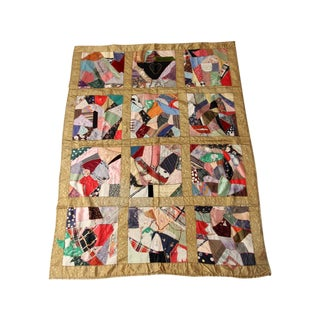Antique Crazy Quilt Blanket