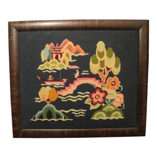 Antique Needlepoint Textile Art