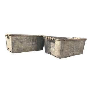 Vintage Metal Bins - Pair