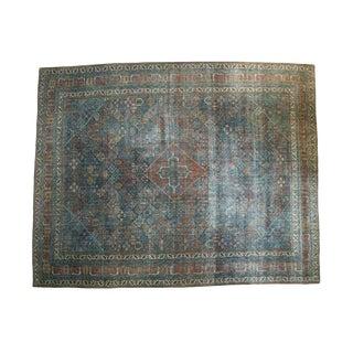 "Vintage Distressed Fine Joshegan Carpet - 11'1"" x 13'11"""