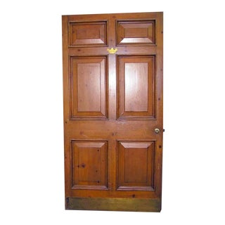 Vintage Knotty Pine Wide Raised Panel Door