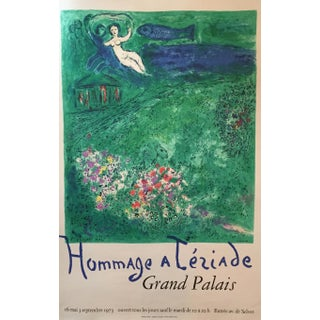 Vintage 1973 Marc Chagall Tèriade Exhibition Poster