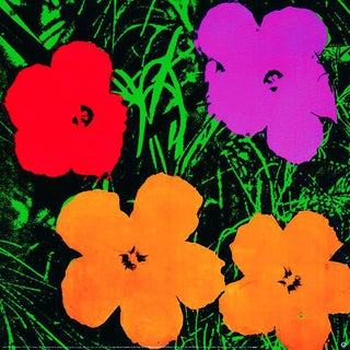 1993 Large Flowers Poster by Andy Warhol