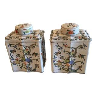 Asian Rectangular Ginger Jars - A Pair