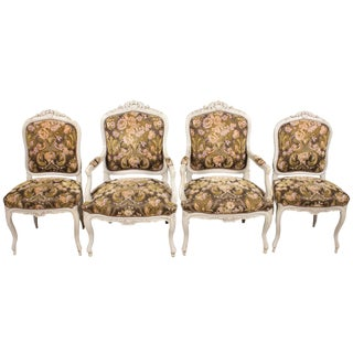 1930s Austrian Louis XV-Style Chairs - Set of 4