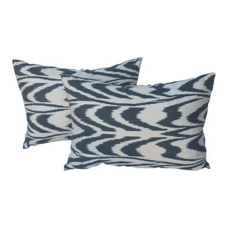 Turkish Silk Ikat Pillows - A Pair