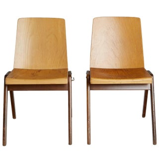 Thonet Wood Stacking Chairs - A Pair