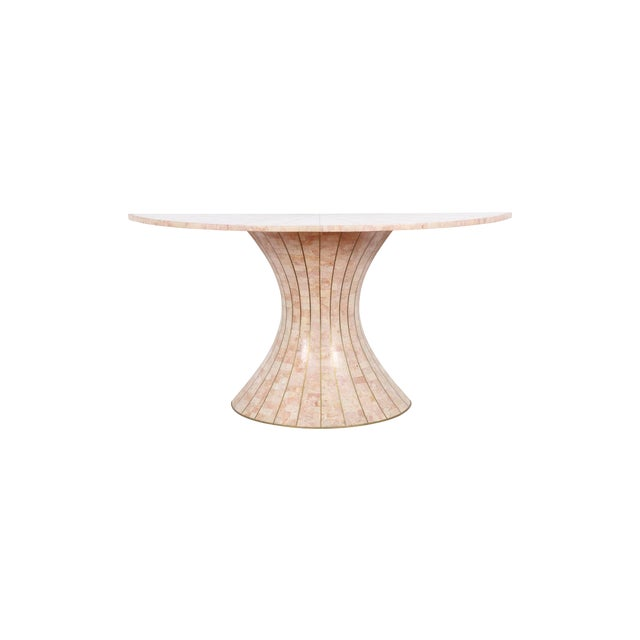 Maitland-Smith Tessellated Marble Console Table - Image 1 of 5