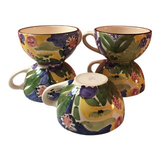 Favanol Vintage Hand Painted Teacups - Set of 6