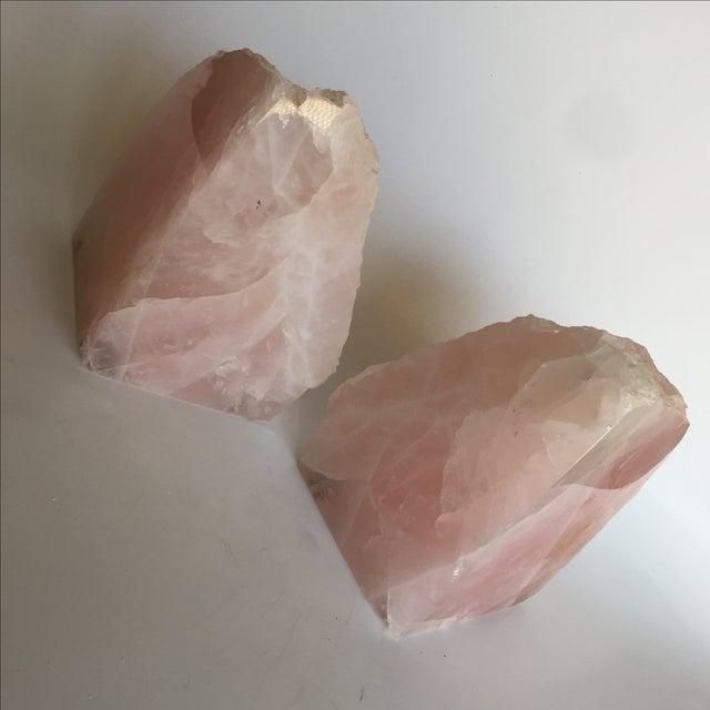 Rose Quartz Bookends - A Pair - Image 10 of 10