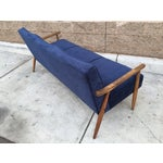 Image of Mid Century Atomic Velvet Sofa