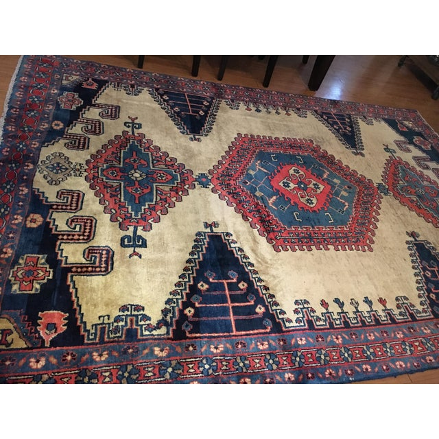 Antique Hand Knotted Persian Rug - 10 X 7 - Image 8 of 11