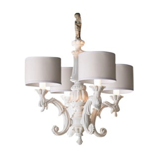 Madame White Baroque Chandelier