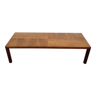 Contemporary Rectangle Top Stained Oak & Maple Coffee Table