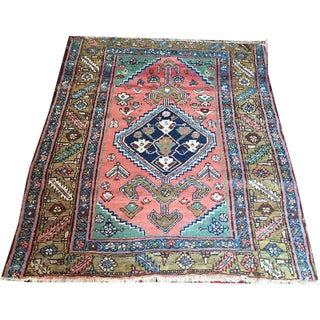 An Interesting Antique Rare Baby Persian Bakhshayesh/Serapi Rug