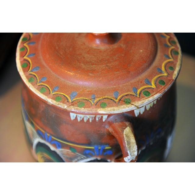 Vintage Tlaquepaque Mexican Clay Pot - Image 5 of 5