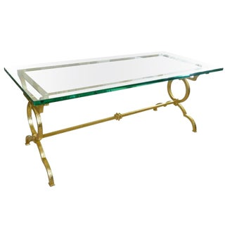 Parzinger Style Gold Leaf over Iron Cocktail Table
