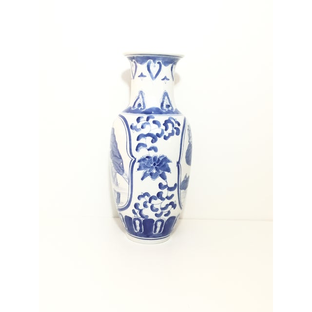 Image of 1960's Asian Vintage Chinoiserie Vase