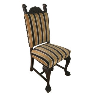 Antique French Stripe Side Chairs - Set of 6
