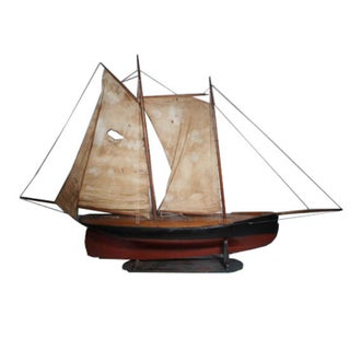 19th Century Wooden Ship Model