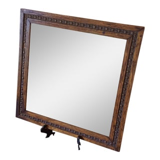 Antique Wooden Shaving Mirror